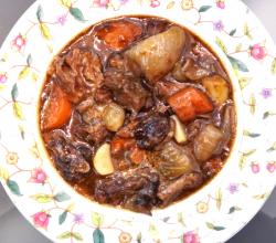 Oxtail Cooked with Grapes