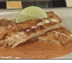 Pan Seared Cod Fillets with Creole Tomato Cream