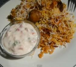 Cottage Cheese Mushroom Biryani
