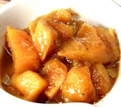 Spiced Mango Papaya Chutney