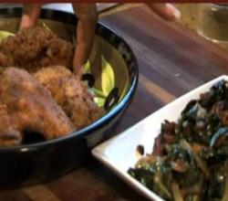Part 1 - Fried Chicken Wings with Sauteed Greens