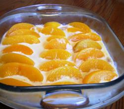 Frozen Peach Cake