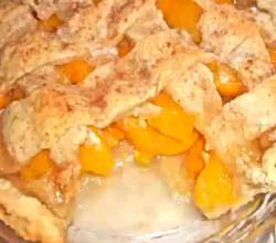 Peach Cobbler: Old Fashioned and Homemade with a Buttery Pie Crust