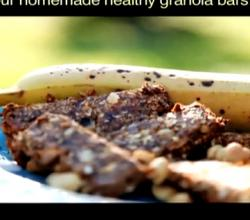 Granola Bars with Peanut Butter and Banana