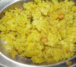 Peanut Poha with Onion