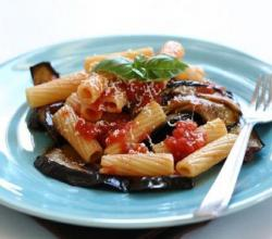 Penne With Eggplant And Turkey Sausage