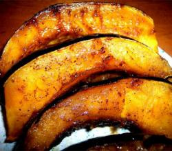 Pepper Squash Roasted With Maple Syrup And Cider