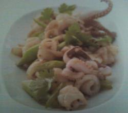 Pla Meuk Kratiem Prikthai - Stir Fry Squid with Garlic