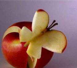 Fruit Art - Apple Butterfly