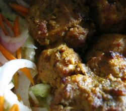 Chicken Reshmi Kebab with Salad