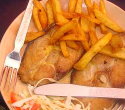 Fried King Fish With  Finger Chips