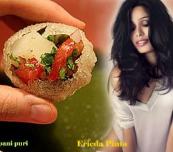 Frieda Pinto With Pani Puri