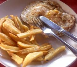Goan Fried Eggs With French Fries