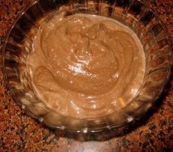 Homemade Chocolate Mousse in a Bowl