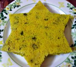 Homemade Star-Shaped Dhokla