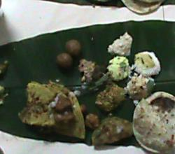 Indian Meals On Banana Leaf