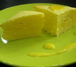 Lemon Curd Layered Sponge Cake