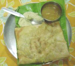 Masala Dosa on Banana Leaf