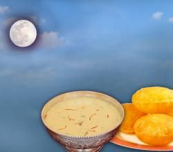 Moon God With Kheer Poori