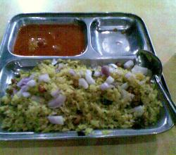 Poha With Sambar