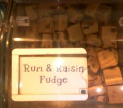 Rum And Raisin Fudge Candy