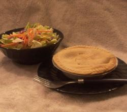 Salad And Pot Pie