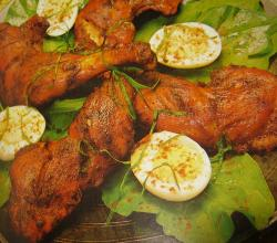 Tandoori Chicken with Eggs