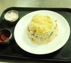 Vegetable Biriyani With Side Dishes