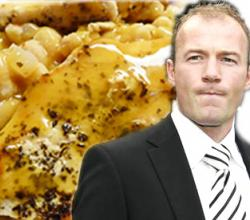 Alan Shearer with Chicken and Beans