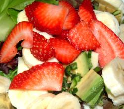 Mixed Fruit Salad with Strawberry Banana and Guava