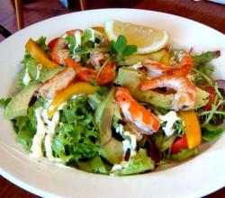 Avocado Grapefruit And Pawpaw Salad With Prawns