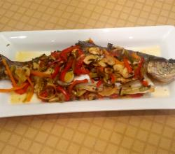 Baked Stuffed Trout