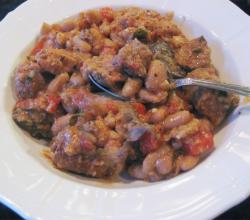 Barbecued Meat and Beans