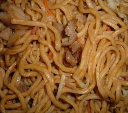 Beef and chicken chow mein