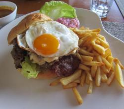Beef Burger and French Fries