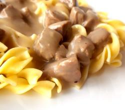 Beef Gravy With Egg Noodles