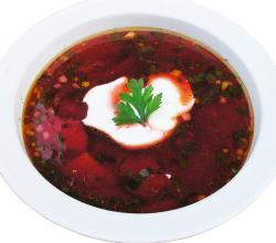 Beetroot Borscht with Sour cream