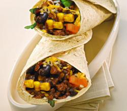 Black Bean and Corn Wraps