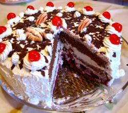 Black Forest Walnut Torte