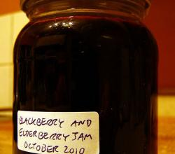 Blackberry and Elderberry Jam