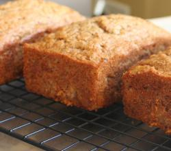 Bourbon Banana Bread loaves