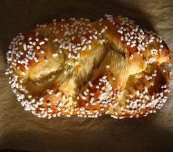 Braided German yeast brioche