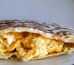 Scrambled Eggs in Pita Pocket