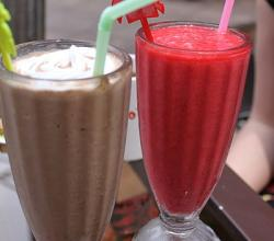 Breakfast milkshakes