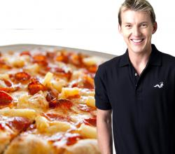 Brett Lee with Pineapple Pizza