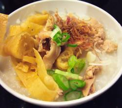 Bubur ayam chicken porridge