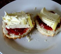 Cheese and jam Scones