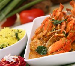 Chettinad Crab With Tamarind Rice