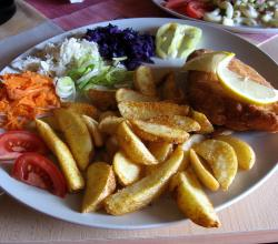 Chicken breast with potato wedges