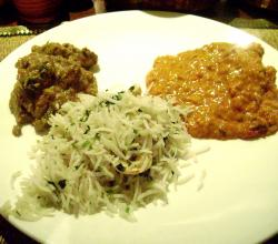 Chicken Chettinad With Rice & Pomfret Masala